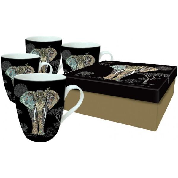Set štirih skodelic - Sloni